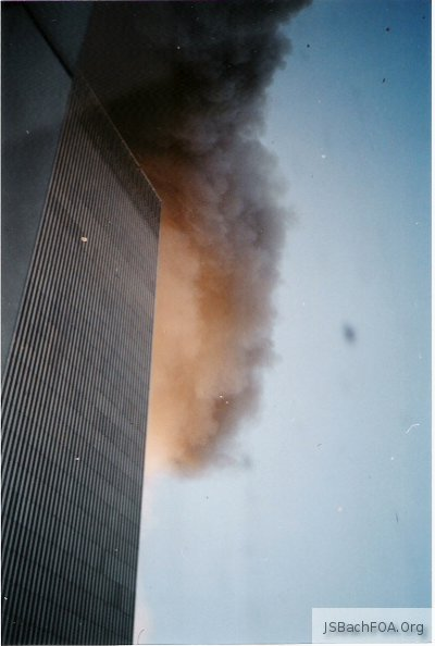 September 11, 2001 World Trade Center Attack - looking out window