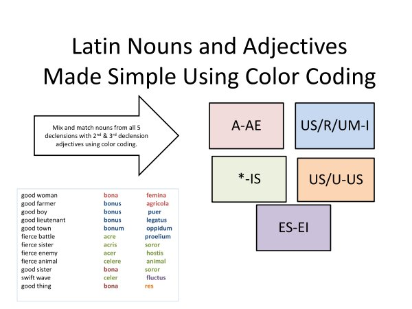 latin pronouns chart
